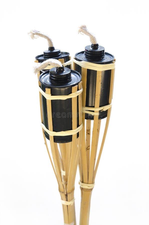 Aislado. torches la lámpara hecha de las latas para el combustible. imágenes de archivo libres de regalías