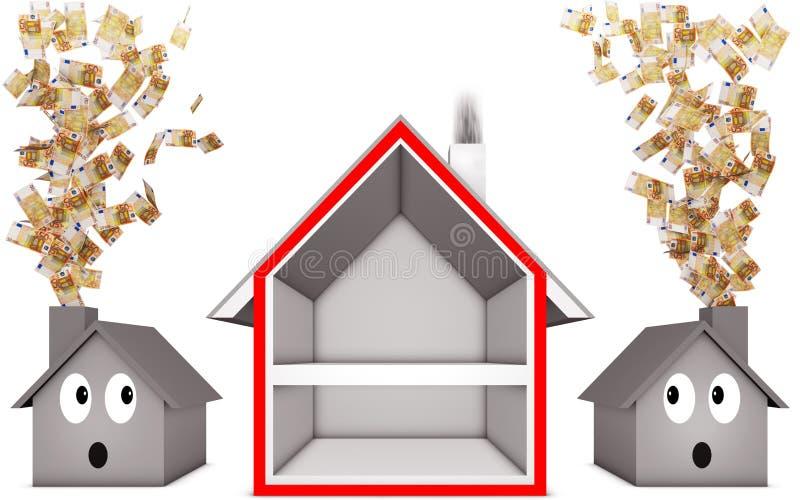 Aislamiento de calor stock de ilustración