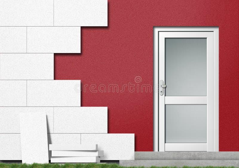 Aislamiento de un frente de la casa libre illustration