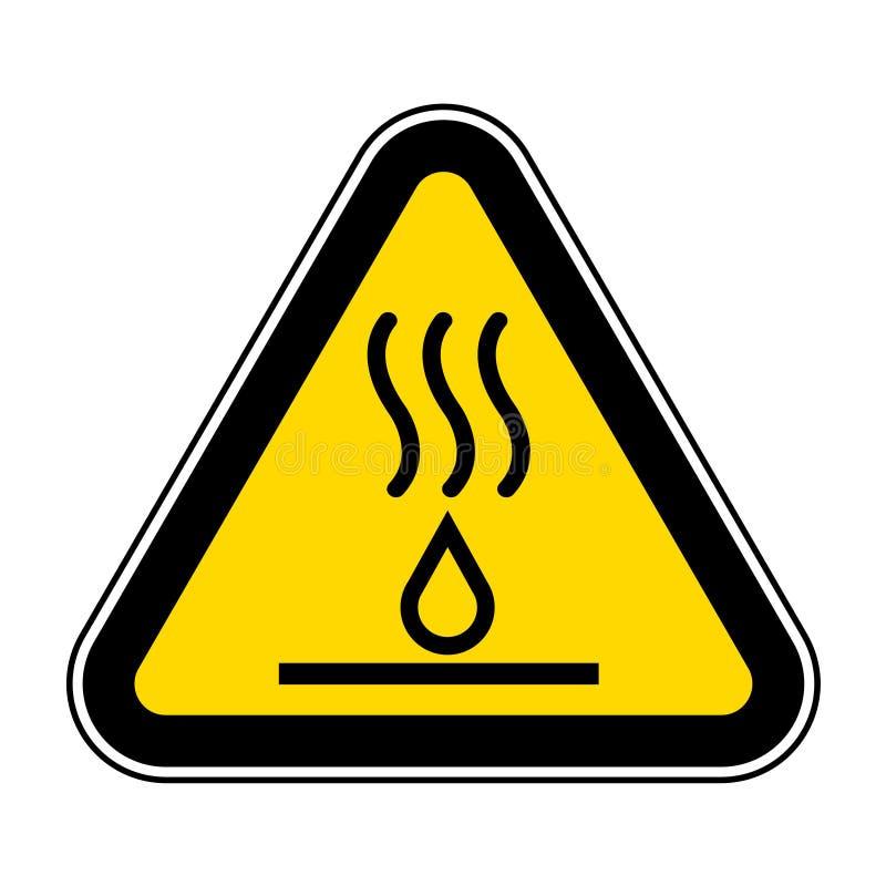 Aislante caliente de la muestra del símbolo de los líquidos en el fondo blanco, ejemplo EPS del vector 10 stock de ilustración