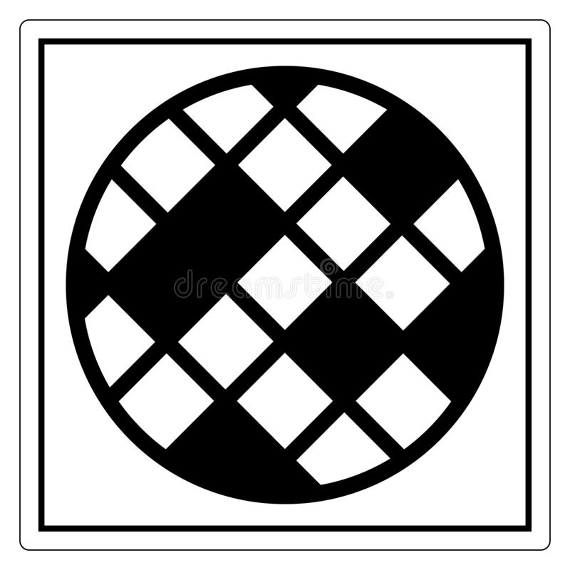Aislante cambiante de la muestra del símbolo del filtro en el fondo blanco, ejemplo EPS del vector 10 stock de ilustración