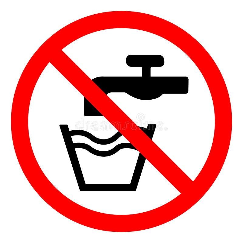 Aislante de la muestra del símbolo del agua no potable en el fondo blanco, ejemplo EPS del vector 10 libre illustration