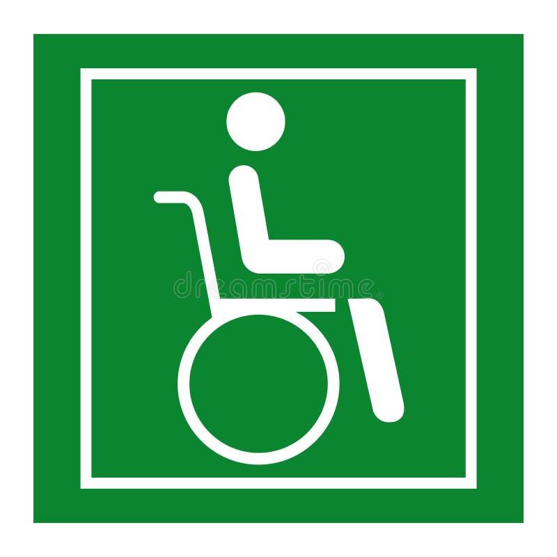 Aislante de la muestra del símbolo del hospital de la silla de rueda en el fondo blanco, ejemplo EPS del vector 10 stock de ilustración