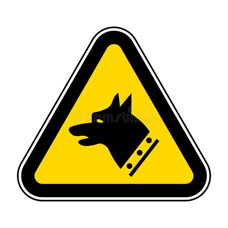 Aislante de la muestra del símbolo del perro del indicador en el fondo blanco, ejemplo EPS del vector 10 libre illustration