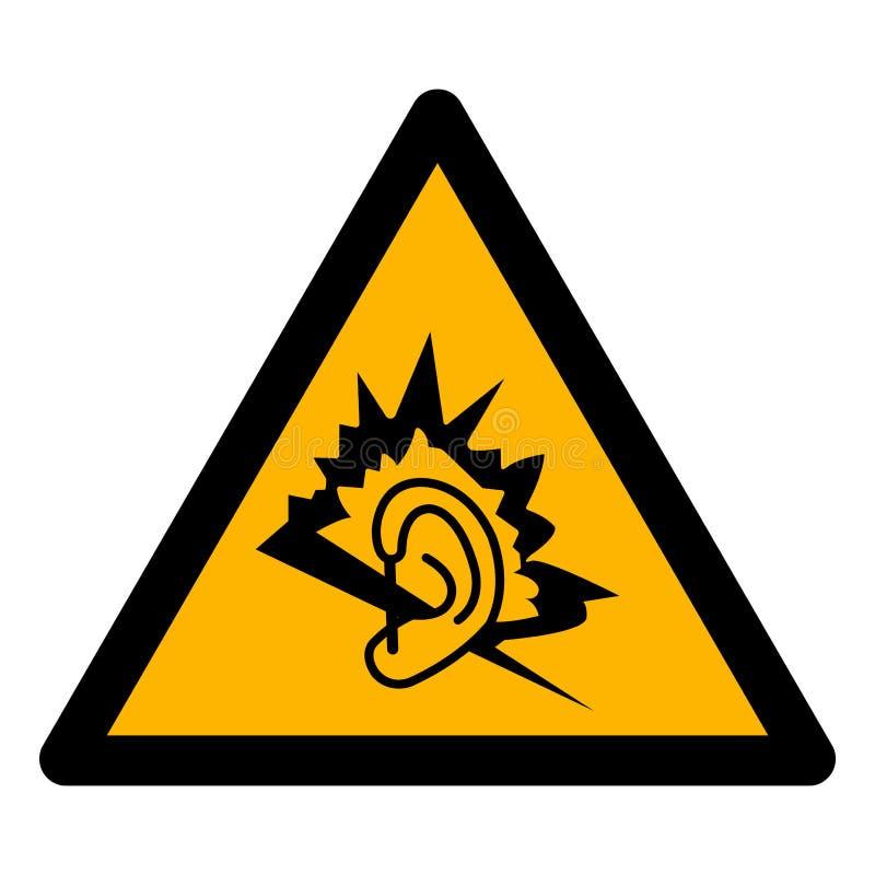 Aislante de la muestra del símbolo del ruido en el fondo blanco, ejemplo EPS del vector 10 stock de ilustración