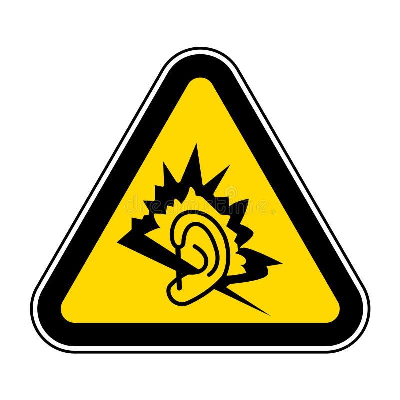 Aislante de la muestra del símbolo del ruido en el fondo blanco, ejemplo EPS del vector 10 ilustración del vector