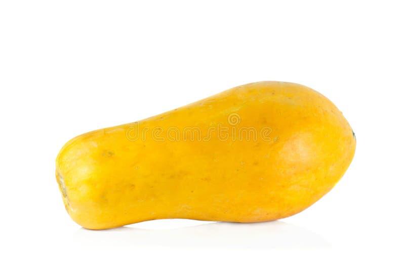 Aislante de la papaya en el fondo blanco fotografía de archivo