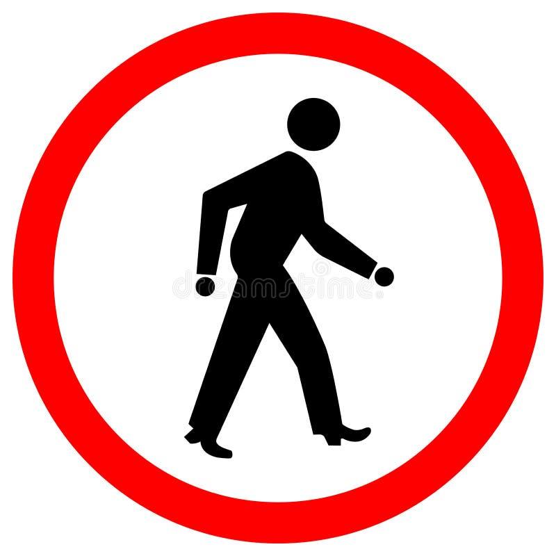 Aislante de la señal de tráfico del paso de peatones en el fondo blanco, ejemplo EPS del vector 10 stock de ilustración