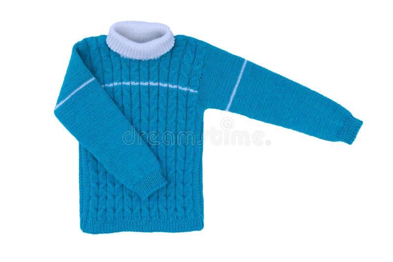 Aislante de punto de los niños del suéter en el fondo blanco fotos de archivo libres de regalías