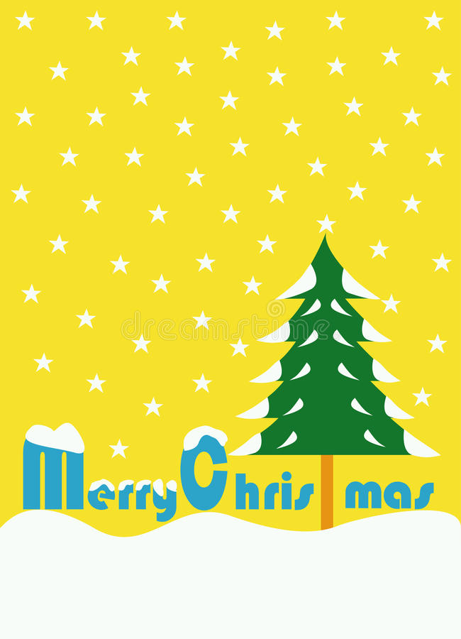 Aislante del día de la Feliz Navidad con el fondo amarillo foto de archivo