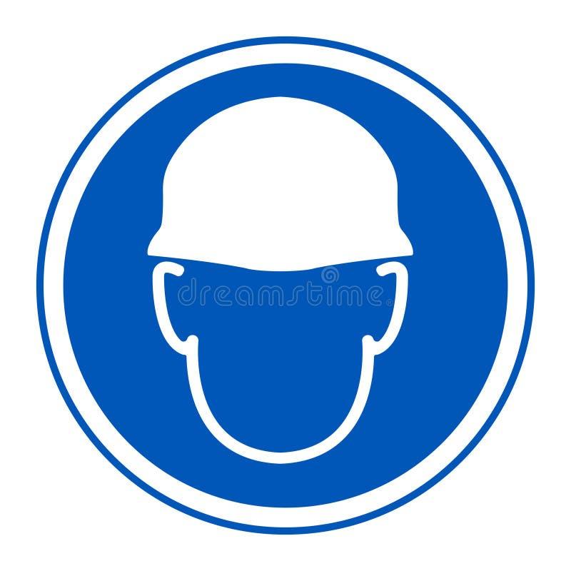 Aislante del símbolo de la muestra del casco del desgaste en el fondo blanco, ejemplo EPS del vector 10 libre illustration
