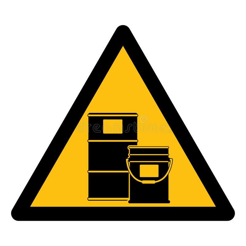 Aislante químico del símbolo del almacén en el fondo blanco, ejemplo EPS del vector 10 libre illustration