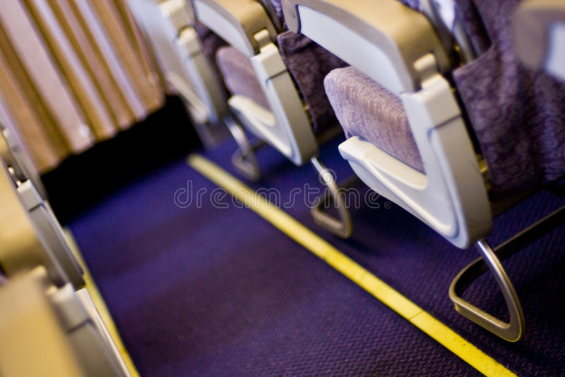 Download Aisle in plane stock photo. Image of airplane, curtain - 5546876