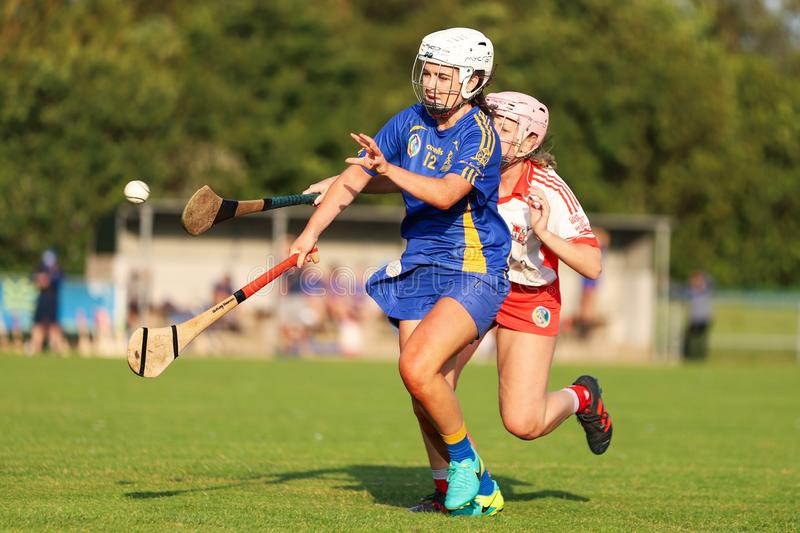 Aisling Shannon at the SE Systems Cork Camogie Senior Club Championship: St. Finbarrs v Ballygarvan stock images