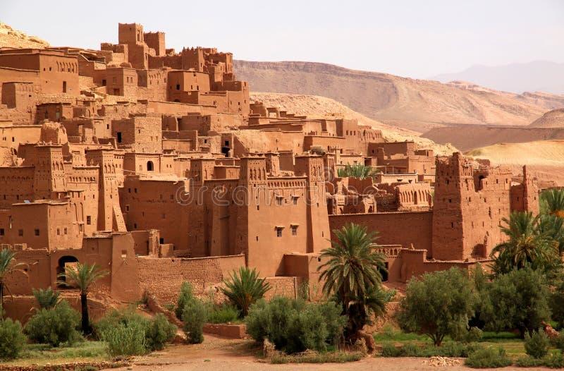 ait古老benhaddou堡垒摩洛哥人 免版税库存照片