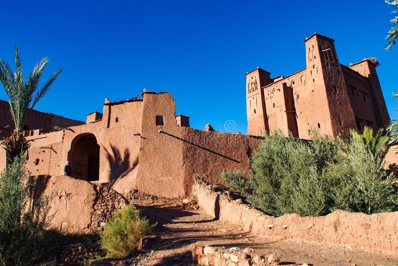 Ait在ouarzazate附近的本Haddou在摩洛哥 免版税库存照片