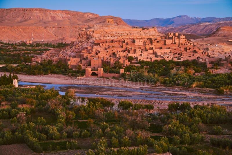 Ait本Haddou历史的kasbah在摩洛哥 免版税库存图片