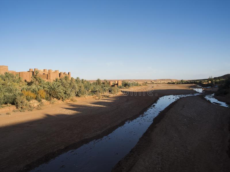 Ait本haddou在摩洛哥 图库摄影