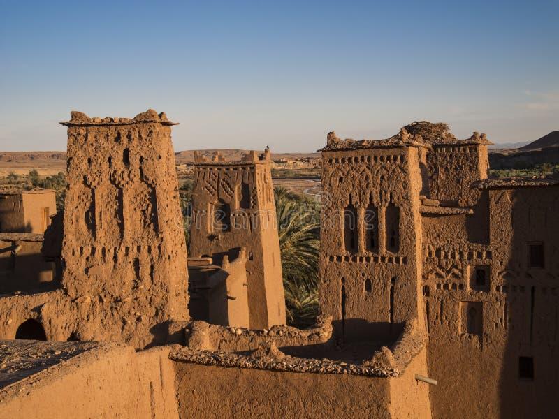 Ait本haddou在摩洛哥 库存照片