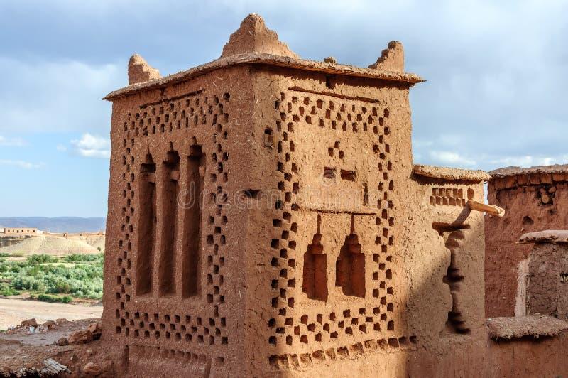 Ait本Haddou (摩洛哥)被加强的城市 库存照片