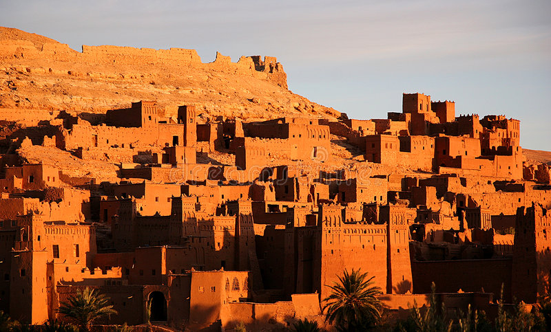 ait αρχαία πόλη benhaddou στοκ φωτογραφία