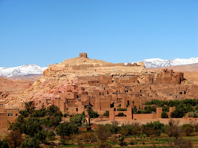 Ait Ben Adou in Morocco royalty free stock images