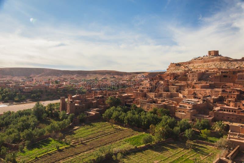 Ait ben haddou στο Μαρόκο στοκ εικόνα