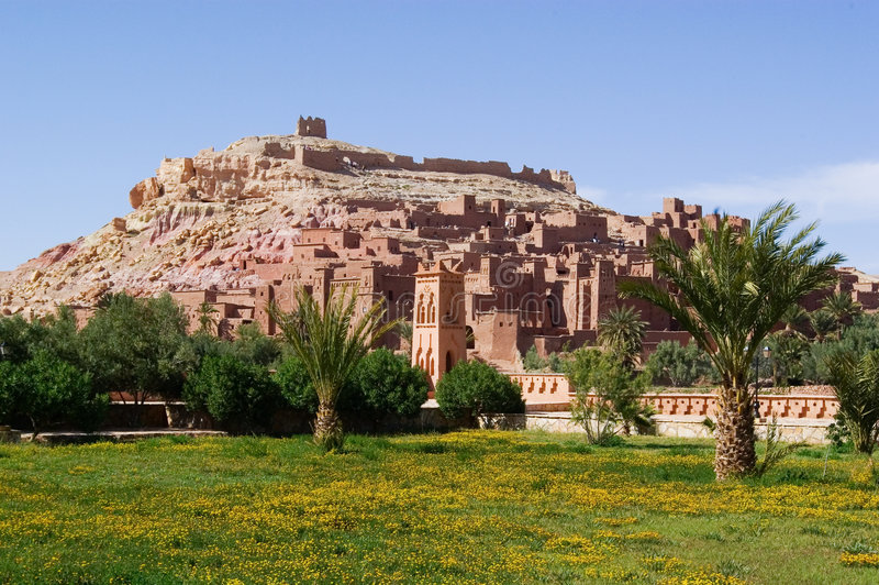 Ait Ben Haddou. Kasbah, the famous place where alot of films have been made. The gladiators is the most famous royalty free stock photography