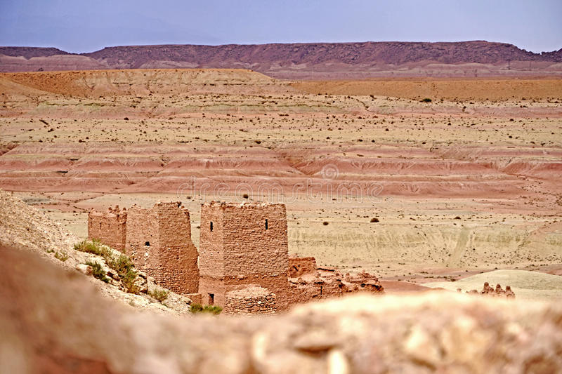 Aït Benhaddou fortified village in Morocco stock image