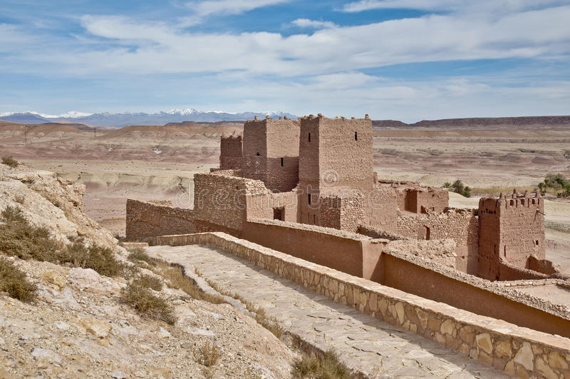 AIT Ben Haddou bei Marokko stockbilder