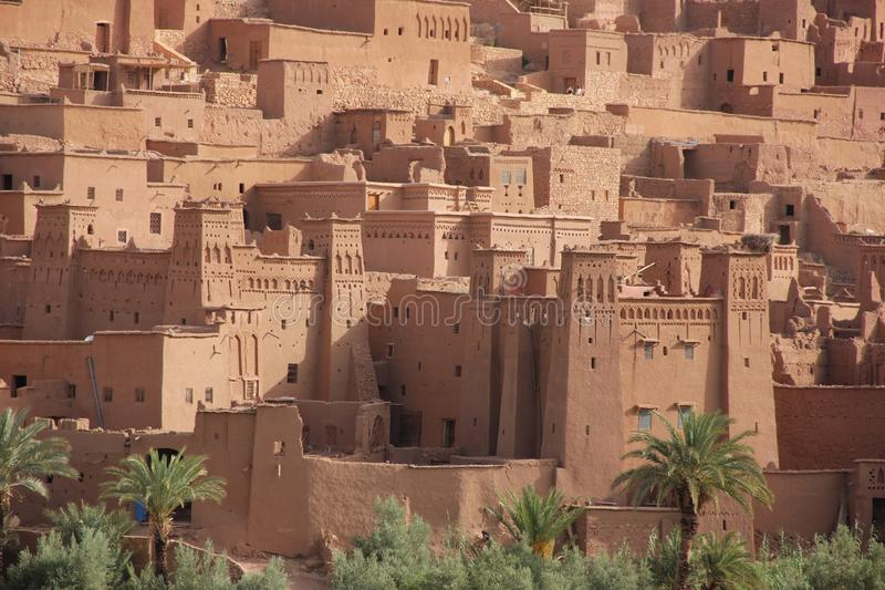 Ait Ben Haddou. A close up view of the Ksar of Ait Ben Haddou, Morocco royalty free stock photo