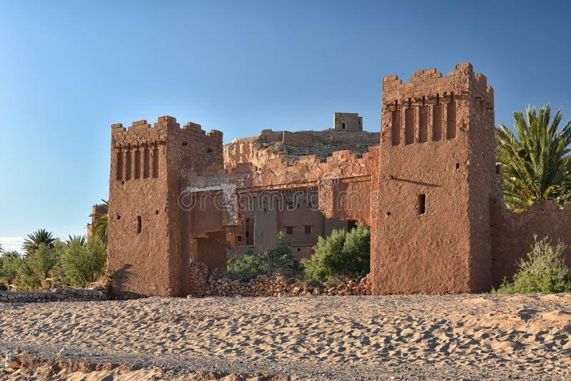 Ait Ben Haddou gates, Morocco royalty free stock photo