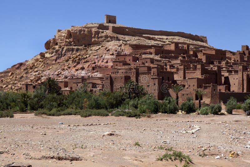 Ait Ben Haddou - kasbah Dorf in Marokko stockbilder