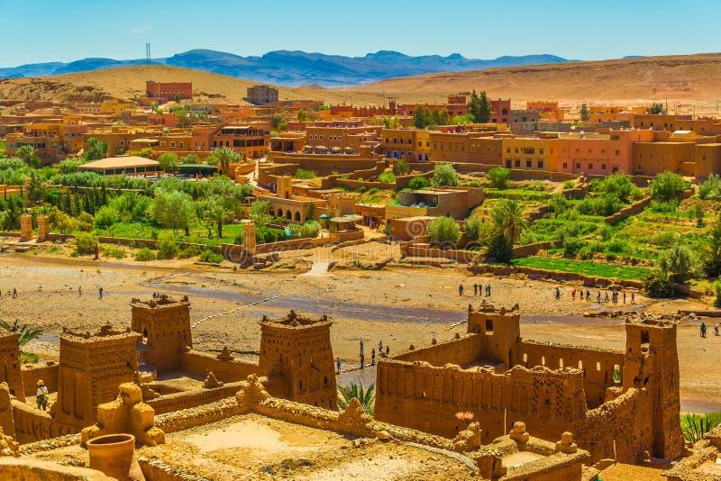 Ait Ben Haddou ksar UNESCOvärldsarv Marocko royaltyfri fotografi