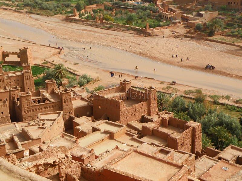AIT-Ben-Haddou, la città fortificata antica nel Marocco immagine stock libera da diritti