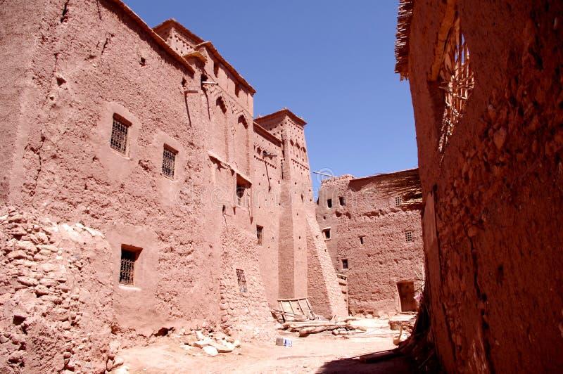 Ait Ben Haddou - traditionell pre-Sahara- livsmiljö royaltyfri bild