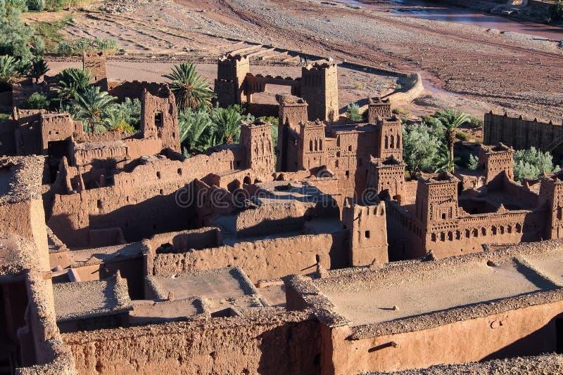 Ait Ben Haddou vicino a ouarzazate nel Marocco fotografie stock libere da diritti