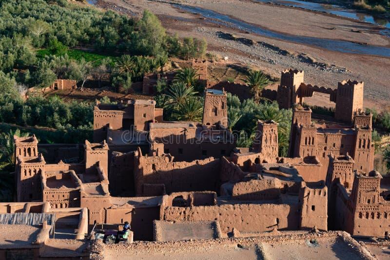 Ait Ben Haddou w Maroko przed zmierzchem obrazy royalty free