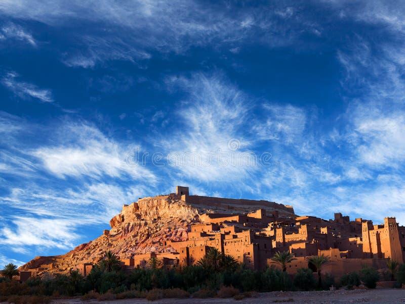 Ait Benhaddou Casbah i Marocko arkivbilder