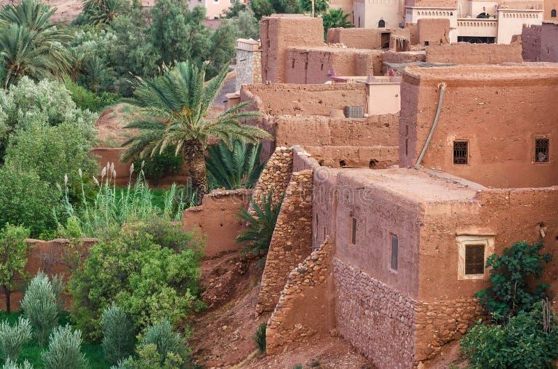 Ait Benhaddou, cidade fortificada, kasbah ou ksar em Marrocos imagem de stock royalty free