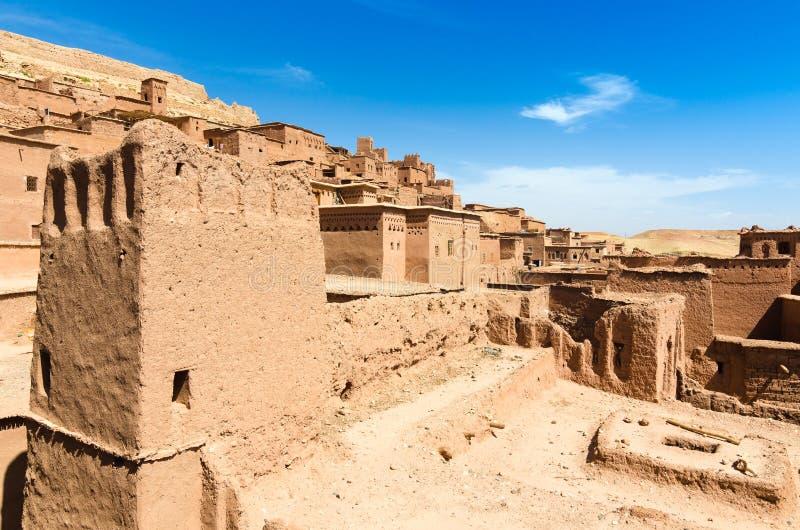Ait Benhaddou, cidade fortificada, kasbah ou ksar em Ouarzazate, Marrocos fotos de stock