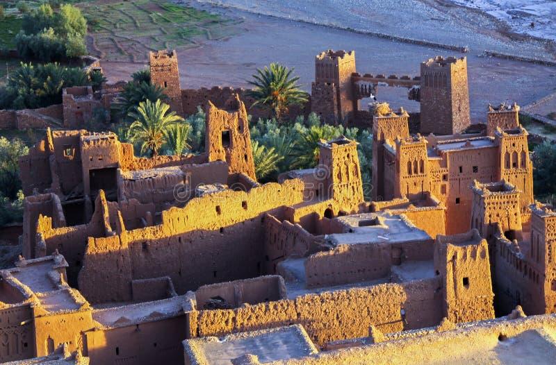 Ait Benhaddou cytadeli Unesco światowego dziedzictwa miejsce fotografia royalty free
