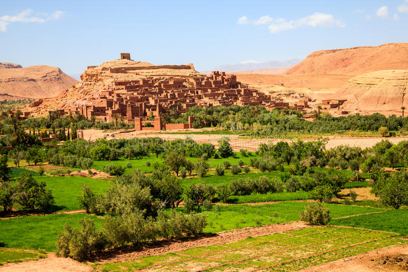 Ait benhaddou fortified city stock image