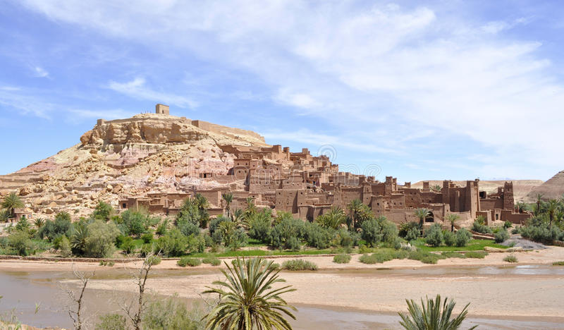 Ait Benhaddou Kasbah,Morocco stock photography