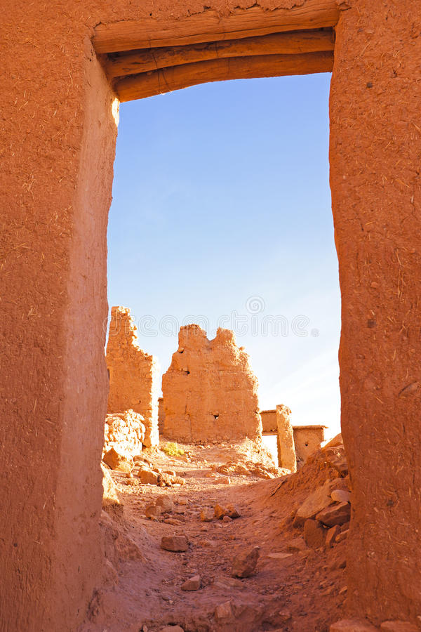 Ait Benhaddou in Morocco royalty free stock image