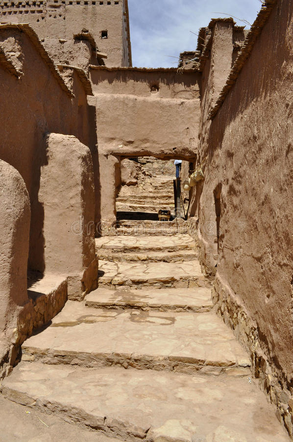 Ait Benhaddou street,Morocco stock image