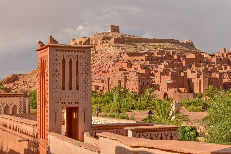 Ait Benhaddou, UNESCO światowego dziedzictwa miejsce w Maroko zdjęcia royalty free