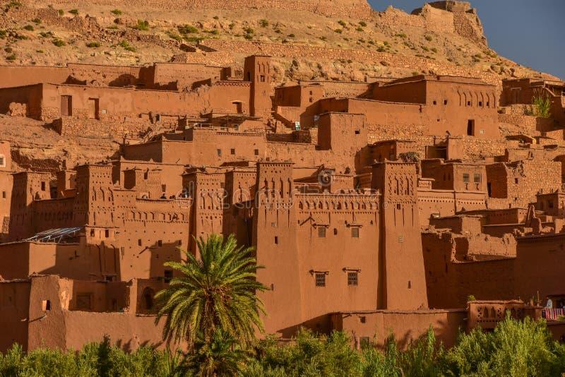 Ait Benhaddou, UNESCO światowego dziedzictwa miejsce w Maroko obraz royalty free
