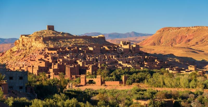 Ait Benhaddou w Maroko przy zmierzchem fotografia royalty free