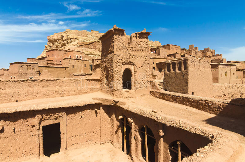 Ait Benhaddou, warowny miasto, kasbah lub ksar w Ouarzazate, Maroko obraz royalty free
